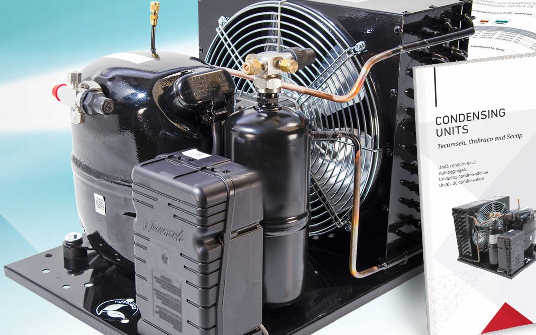 Condensing units with compressors